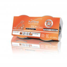 Platinum Menu Mini Turkey&Salmon 4X100g