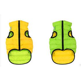 AiryVest dvostrani kaputić: zeleno-žuti