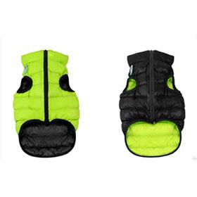 AiryVest dvostrani kaputić: zeleno-crni