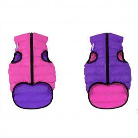 AiryVest dvostrani kaputić: pink-ljubičasti